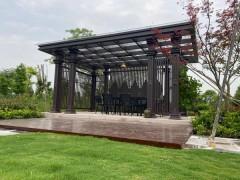 供应铝合金新中式凉亭 铝合金廊架